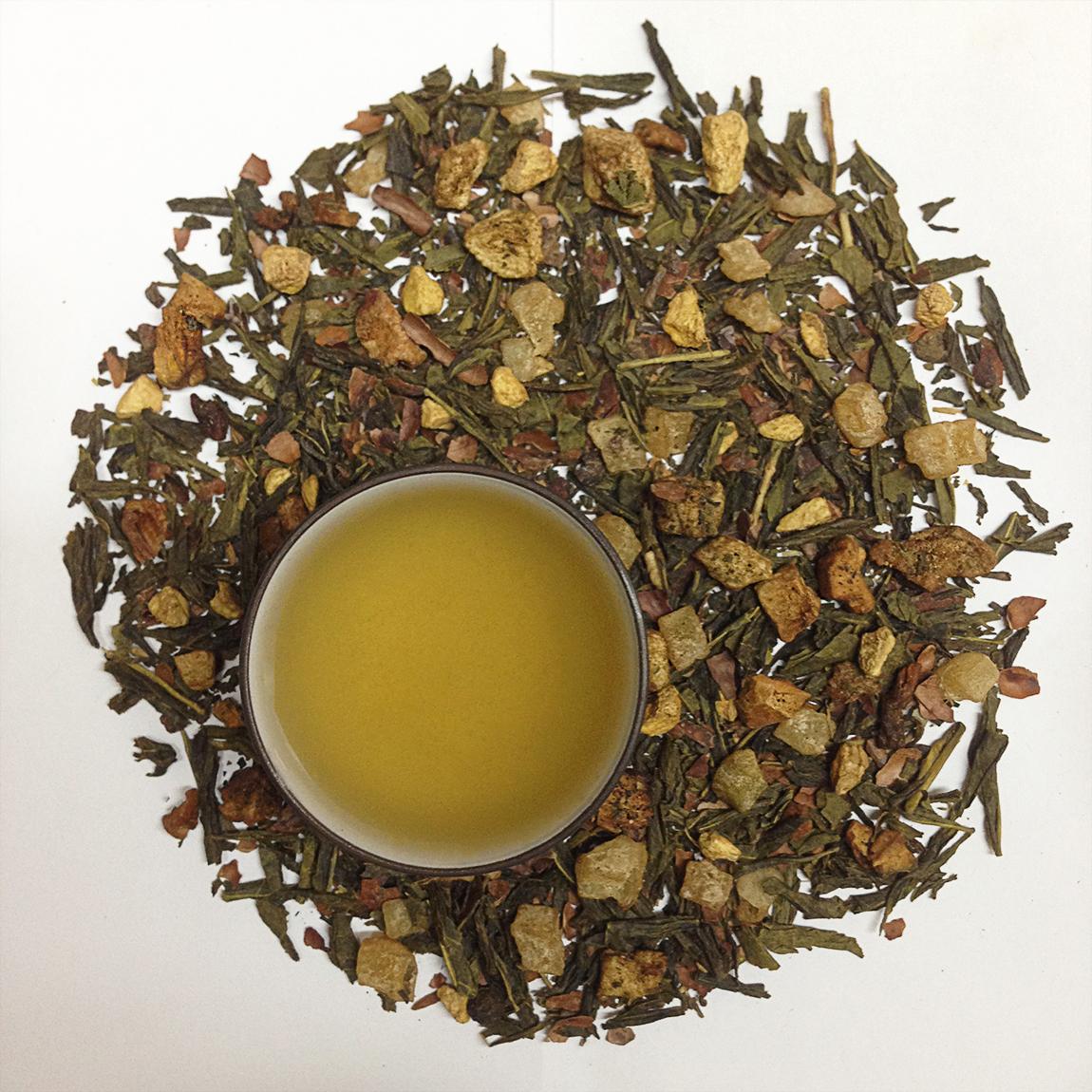 Chocolate Ginger Pear Green Tea