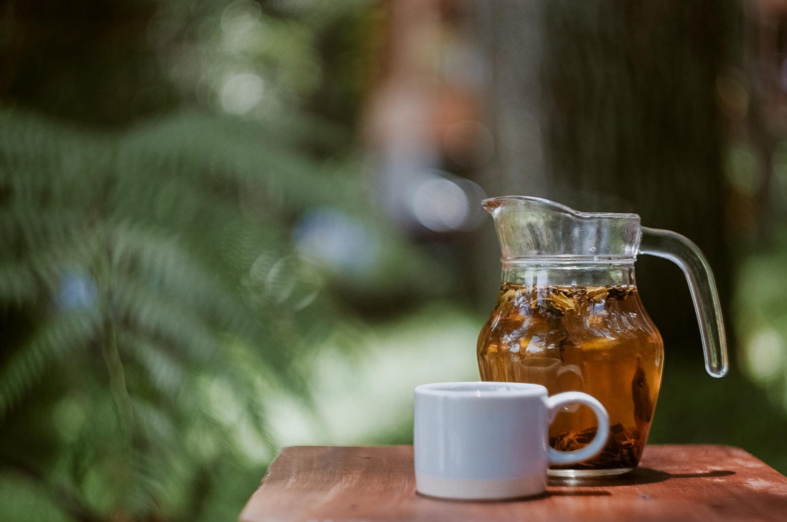 A pitcher of iced tea
