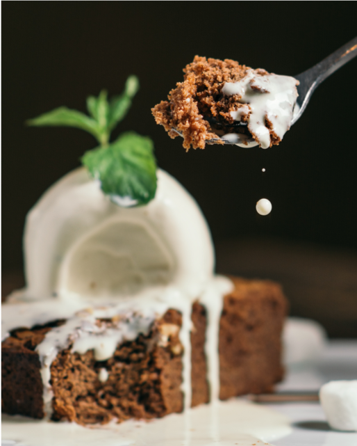 Cooking with tea includes chocolate cakes like this infused with peppermint tea