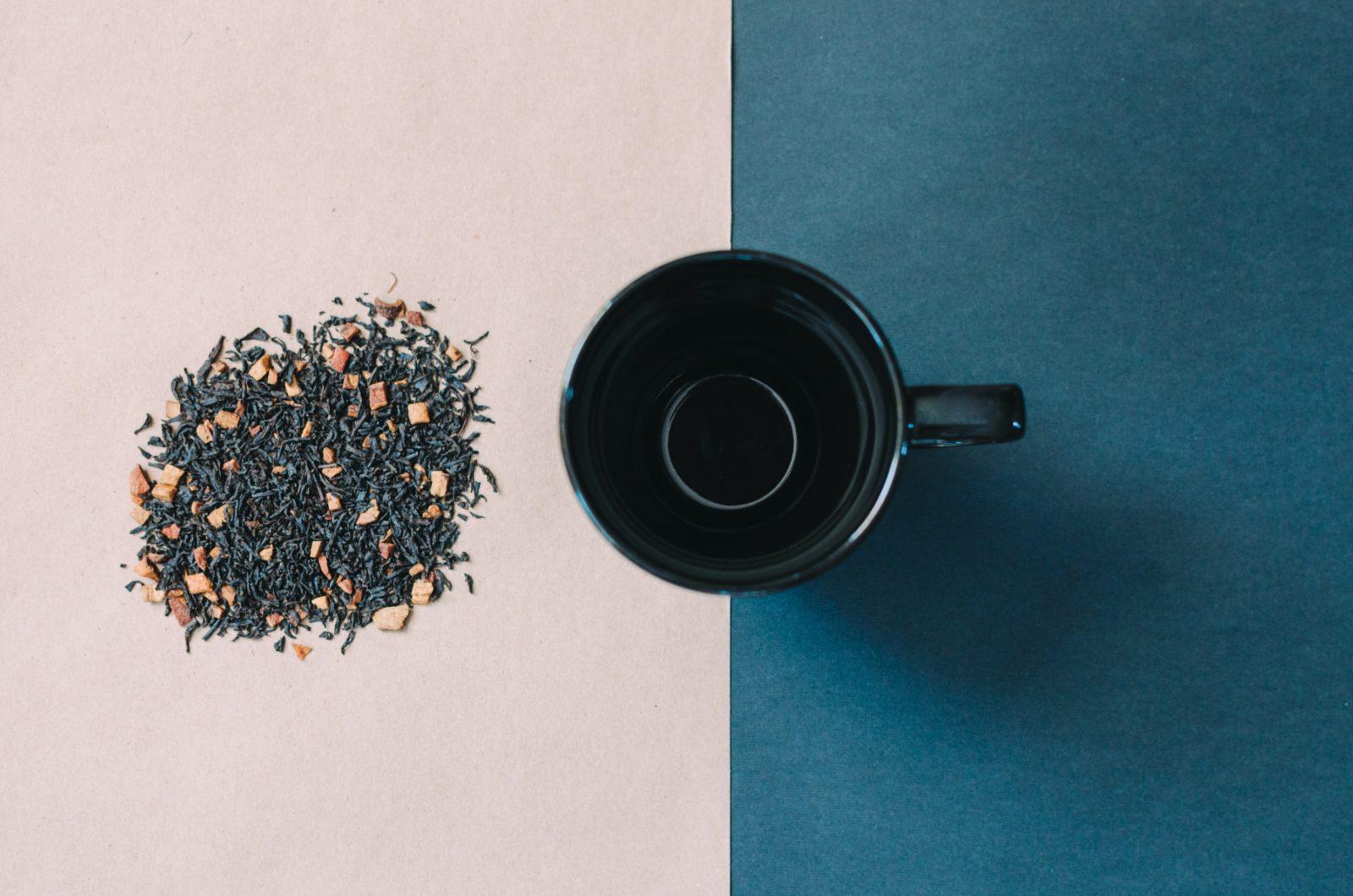 DIY tea blend beside a cup of tea