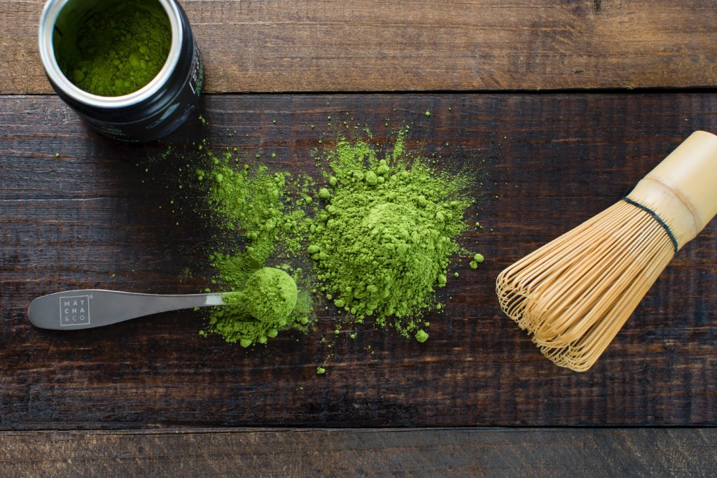 Matcha is a green tea packed with antioxidants