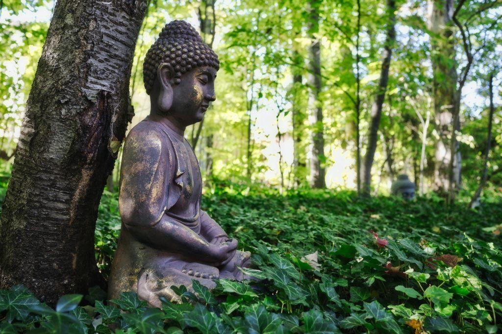 Meditation and tea go together.