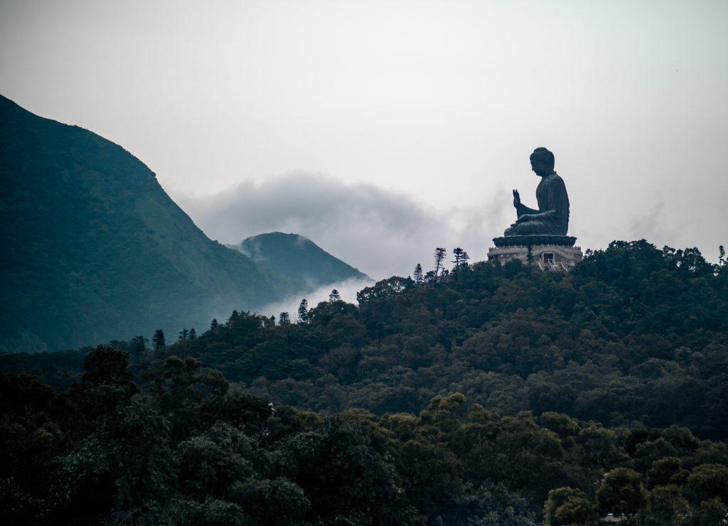 Meditation and tea on a mountain