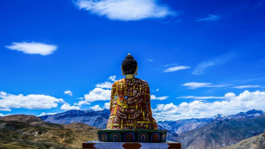 Meditation and tea on a mountaintop