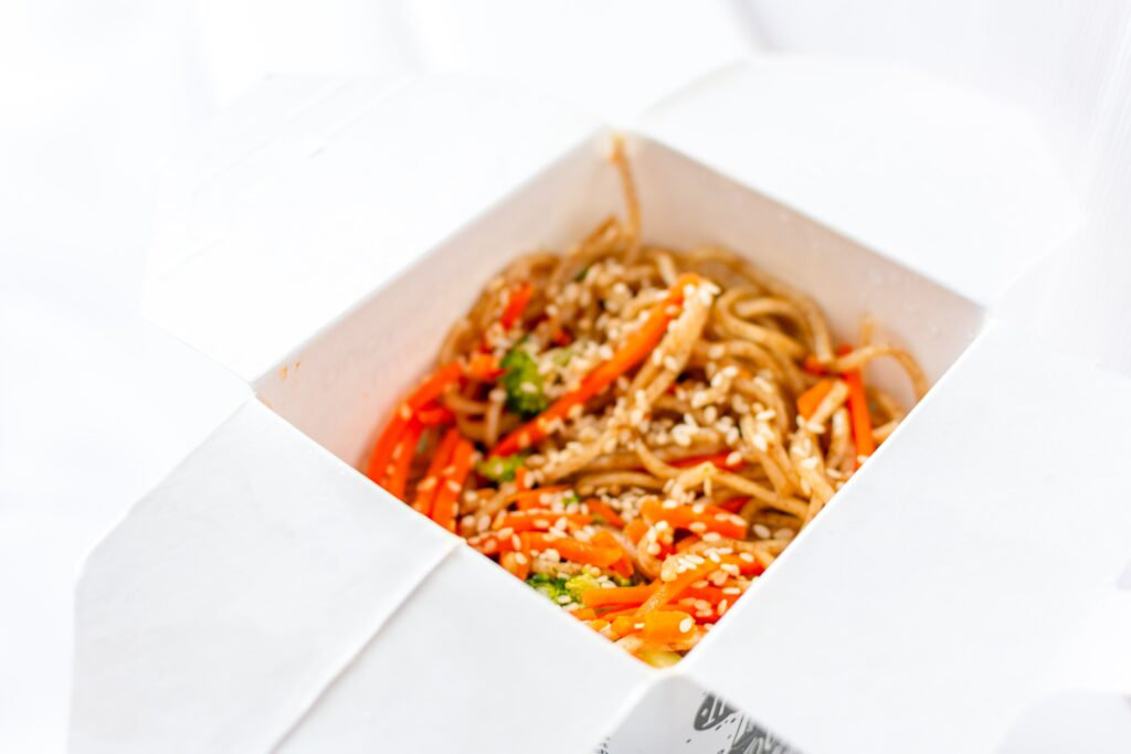 Sesame noodles and tea pairing