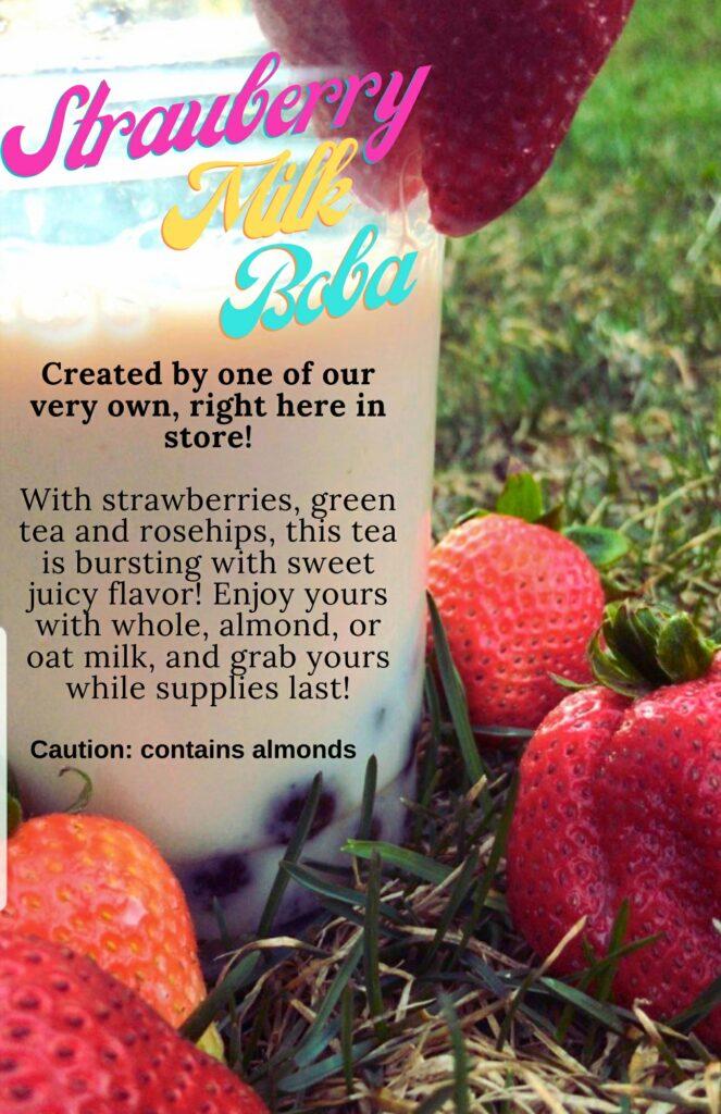 Strawberry Milk Tea at Ku Cha